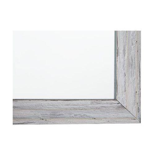 Lustro ścienne białe/imitacja drewna 50 x 130 cm BENON (4260602377566)