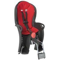 Fotelik rowerowy SLEEPY czarny, czerwona wyściółka, 305086