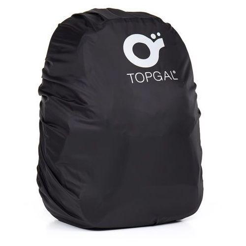 Pelerynka na plecak na notebook Topgal TOP 163 A - Black, kolor czarny