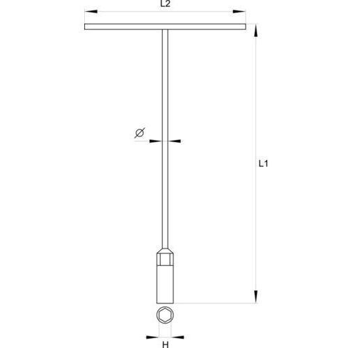 Klucz nasadowy typu t'' 13 mm Yato YT-1576 - ZYSKAJ RABAT 30 ZŁ