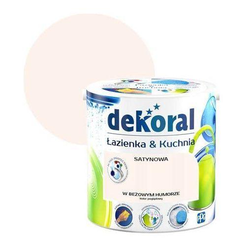 Dekoral Farba satynowa łazienka i kuchnia w beżowym humorze 2,5 l (5904000018919)