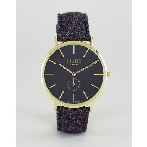inspired sub-dial wool watch in black exclusive to asos - black marki Reclaimed vintage
