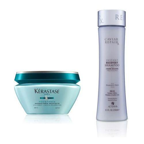 force architecte and caviar repair rx instant recovery | zestaw do włosów zniszczonych: maska 200ml + szampon 250ml marki Kerastase