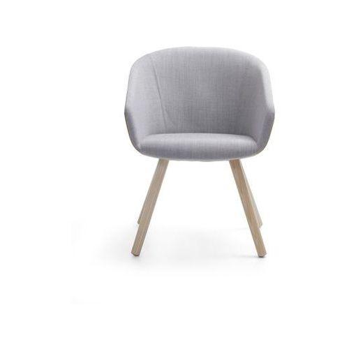 Fotel  occo wood oc w 740 w jednym kolorze tkaniny od producenta Bejot