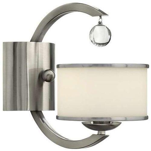 Kinkiet LAMPA ścienna HK/MONACO1 Elstead HINKLEY nowoczesna OPRAWA z kryształkiem crystal nikiel szczotkowany, HK/MONACO1