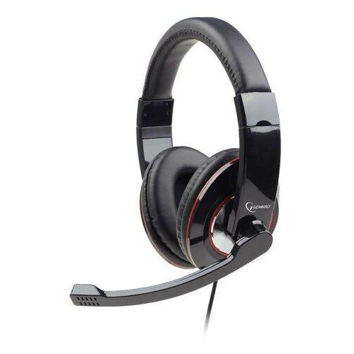 Słuchawki Gembird GEMBIRD sluchátka s mikrofonem MHS-U-001 Gaming, černá, USB, impedancja 32om
