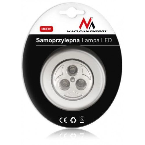 Maclean Lampa samoprzylepna 3xLED MCE01