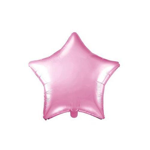 Party deco Balon foliowy gwiazdka jasnoróżowa - 48 cm - 1 szt. (5902230780279)
