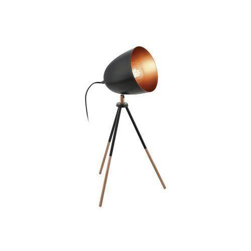 chester lampa stołowa czarny, miedź, 1-punktowy - - nowoczesny - obszar wewnętrzny - chester - marki Eglo