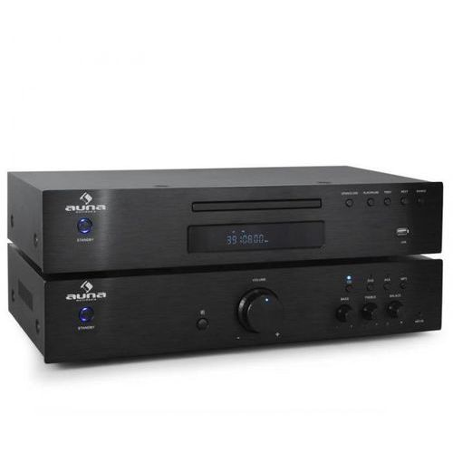 Zestaw 2.0 Auna wieża Hi-Fi, odtwarzacz CD 600W