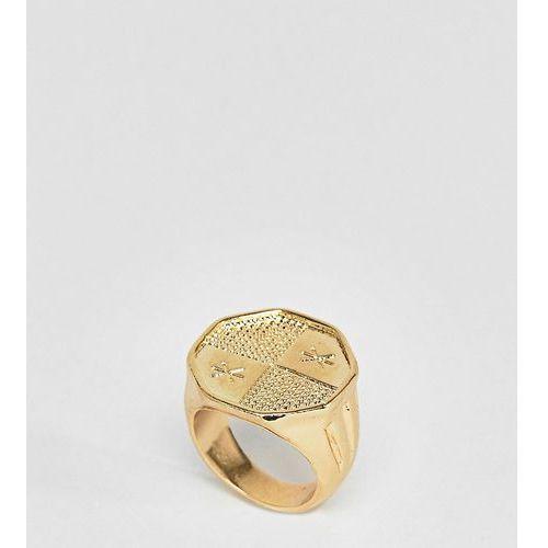 inspired engraved ring - gold marki Reclaimed vintage
