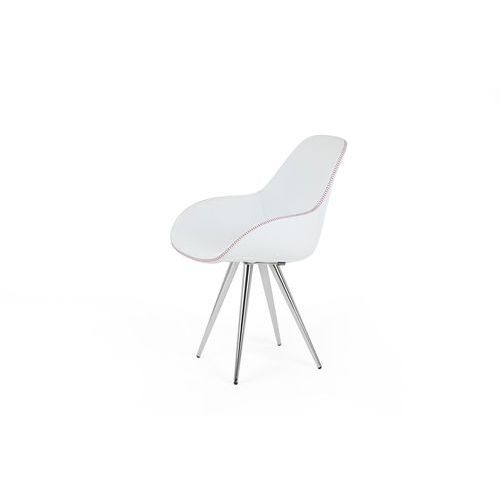 Kubikoff Krzesło ANGEL CONTRACT BLACK DIMPLE POP skóra angelcontrdimplepop-leather, kolor różowy