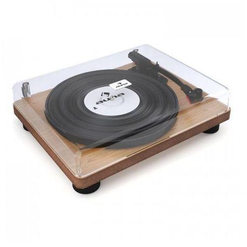 Tt classic wd gramofon retro usb line-out głośniki okleina drewniana marki Auna