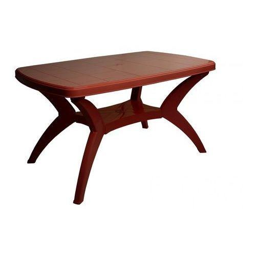 stół modello mp467, burgundowy marki Mega plast