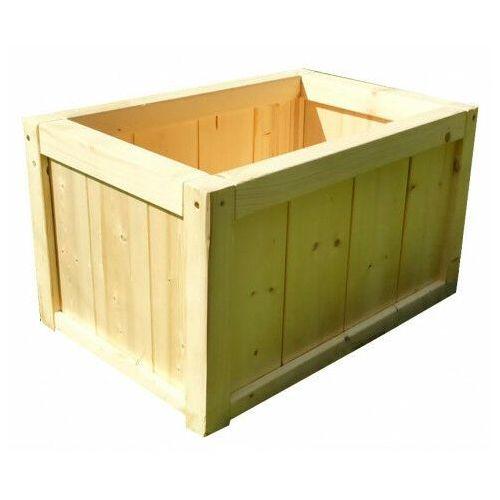 Prostokątna drewniana donica ogrodowa 15 kolorów - Unisa