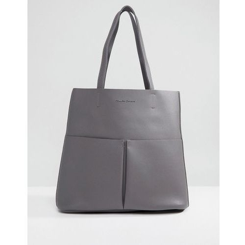 Claudia canova tote bag with front pocket - grey
