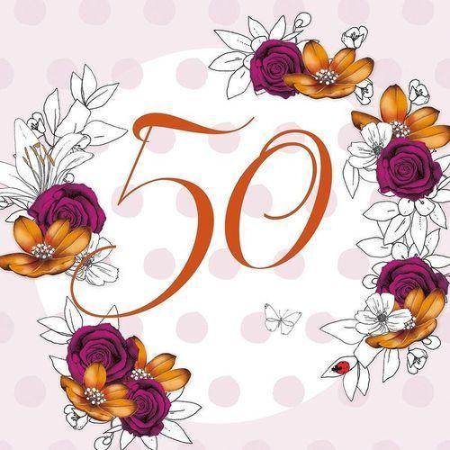 Clear creations Karnet swarovski kwadrat cl1450 urodziny 50 kwiaty (5060481571944)