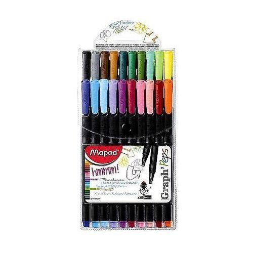 Cienkopis graph'peps 20 kolorów w etui marki Maped