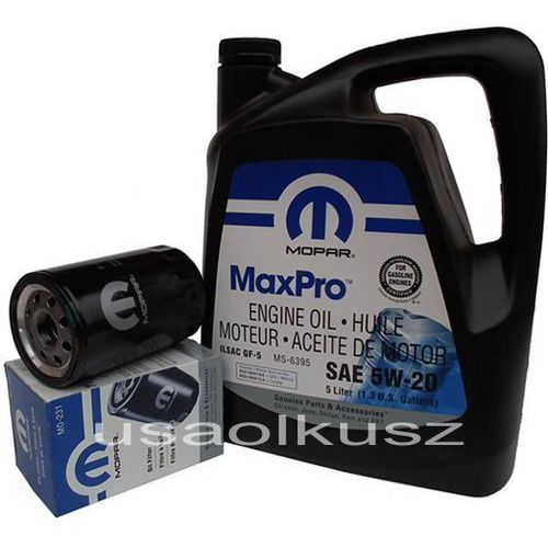 Mopar Orygimalny filtr oraz olej 5w20 dodge ram 3,7 v6 2009-