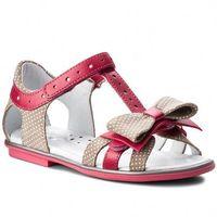 Sandały BARTEK - 36182/1M4 Beżowo Różowy, kolor różowy