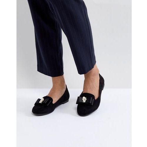 flat pearl trim slipper loafer - black, Miss kg