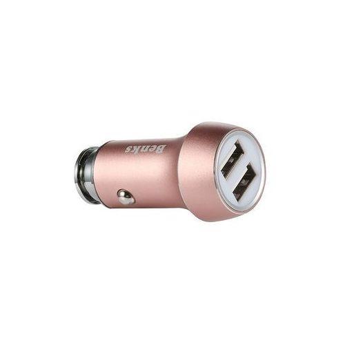 Ładowarka Samochodowa Benks 2x USB - Rose Gold (6948005937904)
