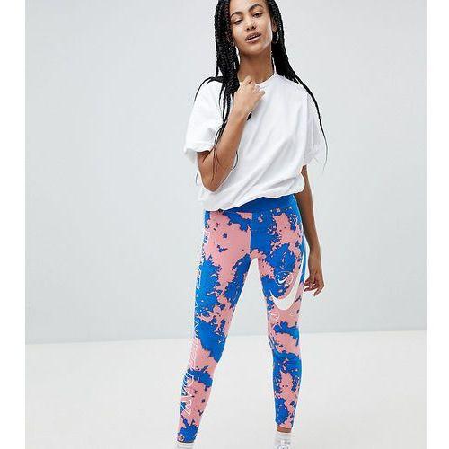 tie dye print leggings - multi marki Nike