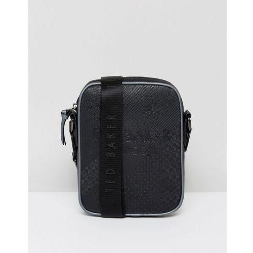 embossed flight bag heliox in black - black marki Ted baker