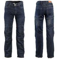 Męskie jeansowe spodnie motocyklowe W-TEC Pawted, Ciemny niebieski, L, kolor niebieski
