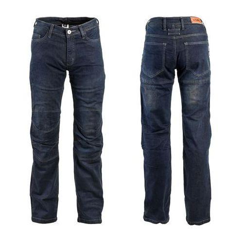 Męskie jeansowe spodnie motocyklowe pawted, ciemny niebieski, 5xl marki W-tec