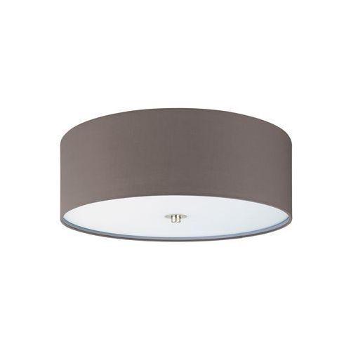 Plafon LAMPA sufitowa PASTERI 94922 Eglo okrągła OPRAWA abażurowa grafitowo-brązowa, 94922