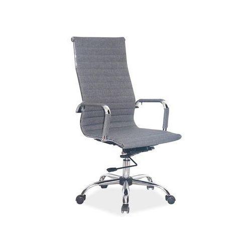 Signal Fotel obrotowy, krzesło biurowe q-040 szary tkanina