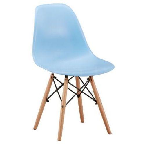 """Krzesło """"TIFI"""" niebieskie, kolor niebieski"""