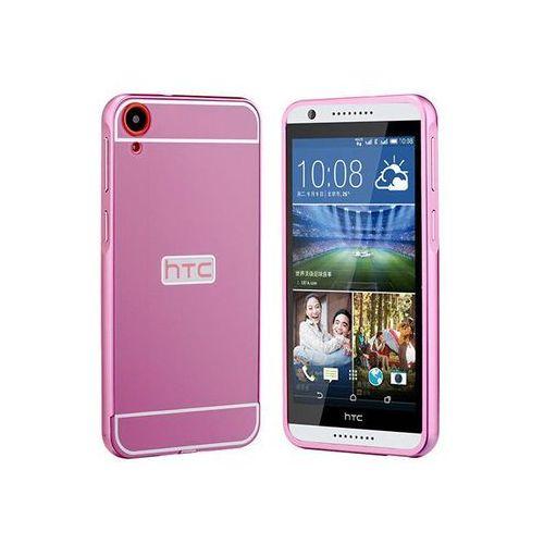 Różowe Etui aluminium Bumper HTC Desire 820 - Różowy