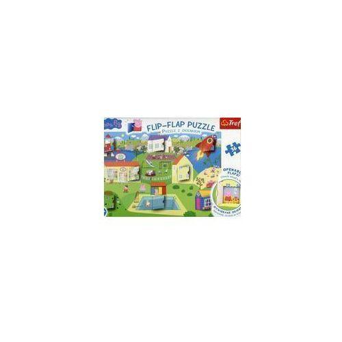 Flip-Flap Puzzle z okienkiem 36 Świat Świnki Peppy