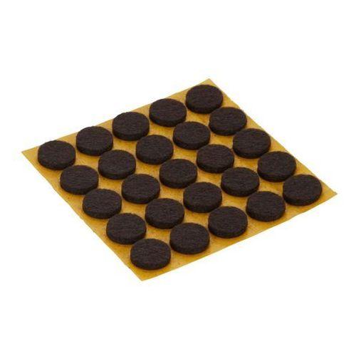 Diall Podkładki filcowe samoprzylepne 13 mm brązowe 25 szt. (3663602992493)