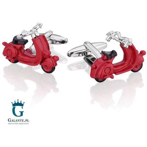 Spinki do mankietów x2 czerwony skuter marki Galante