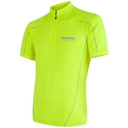 Sensor męska koszulka z krótkim rękawem cyklo entry yellow reflex (8592837039565)