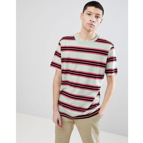 Weekday Frank Striped T-Shirt Light Green - Green, kolor zielony