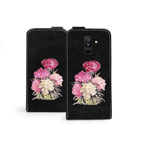 Samsung Galaxy A6 Plus (2018) - etui na telefon Flip Fantastic - różowy bukiet