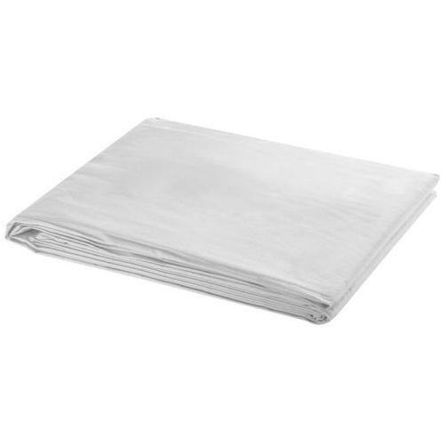 Vidaxl  tło fotograficzne bawełniane, białe. (8718475814542)