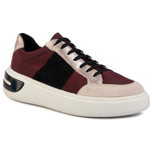 Geox Sneakersy - d ottaya f d92byf 011ky c7jb5 dk burgundy/champagn