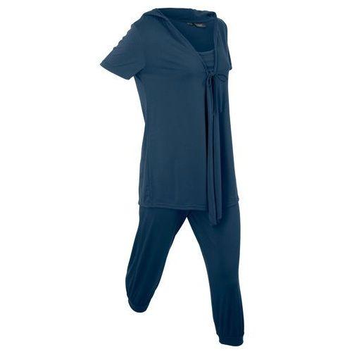 """Dres 3-częściowy """"wellness"""", z workiem bonprix ciemnoniebieski, kolor niebieski"""