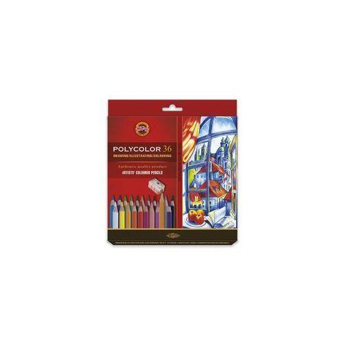 Koh i noor Polycolor Kredki 36kol+2 ołówki karton (8593539318743)