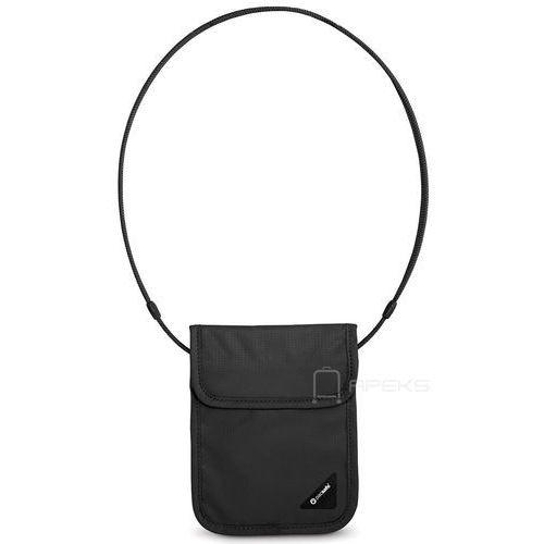 Pacsafe Coversafe X75 saszetka podróżna na szyję / etui podróżne / czarna - Black