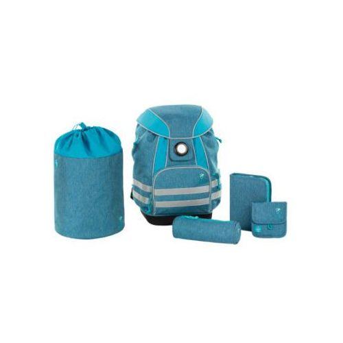 LÄSSIG 4Kids Plecak szkolny - zestaw About Friends - mélange blue