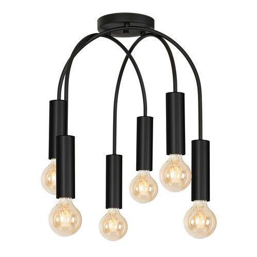 Luminex Loppe 513 plafon lampa sufitowa 6x60W E27 czarny