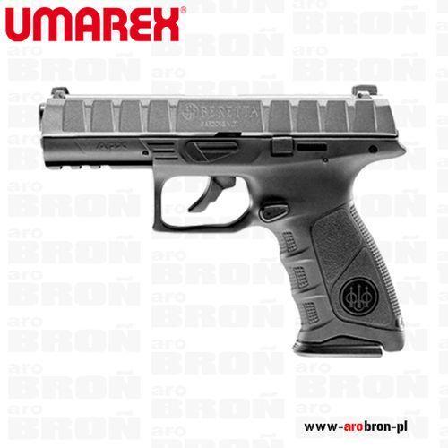 Pistolet wiatrówka beretta apx 4,5 mm co2 satin blowback, metalowy zamek, picatinny, satynowy, marki Umarex