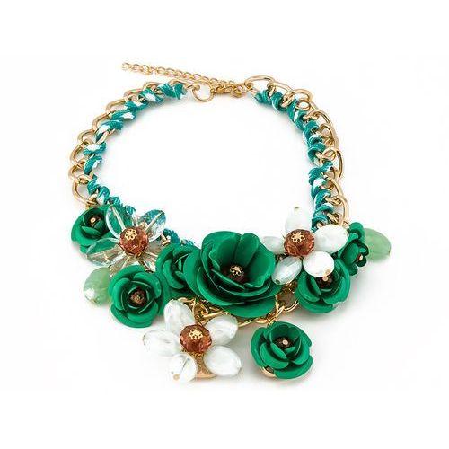 Naszyjnik flowers xl emerald - emerald marki Cloe