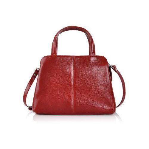 Czerwony kuferek skórzany, kolor czerwony